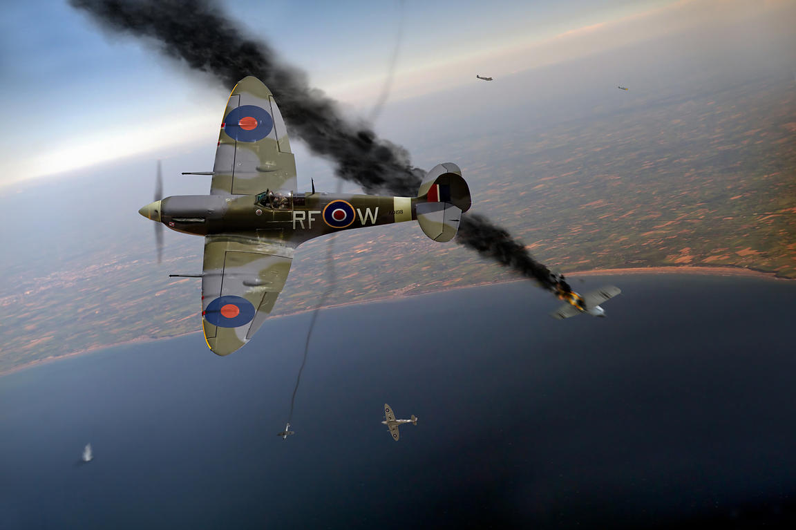 Spitfires in Channel dogfight