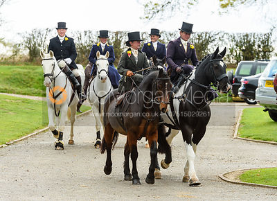 Laura Elliott, Kerry Harrison at the meet. Quorn Hunt Opening Meet 2018
