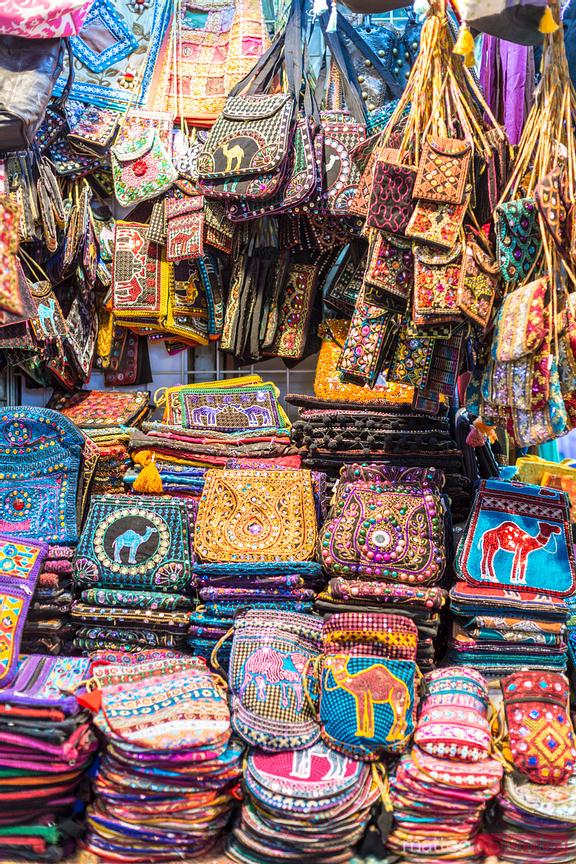 Colorful souvenirs for sale in the old souk, Muscat, Oman