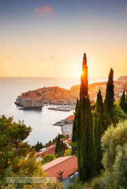 Sunset over the Old Town, Dubrovnik - BP4747