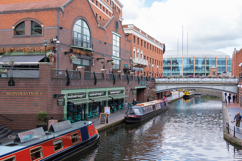 Canals at Brindleyplace, Birmingham, England