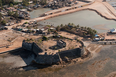 Aerial view of the historic Taytay Fort, the Fuerza de Santa Isabel, built in 1667, Palawan, Philippines, April 2010
