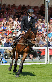 Astier Nicolas and PIAF DE B'NEVILLE (FRA) - show jumping phase,  Mitsubishi Motors Badminton Horse Trials, 6th May 2013.
