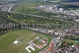 Chester high level aerial view of Chester Golf Course Curzon Park Road