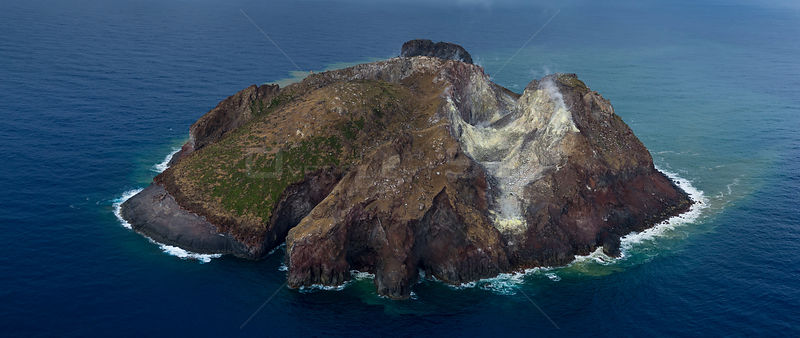 Matthew Island, a volcanic Island in disputed territory between New Caledonia (France) and Vanuatu in the South Pacific. Augu...