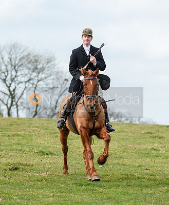 Angus Smales at Jubilee Covert. The Cottesmore Hunt at Newbold Farm 16/2