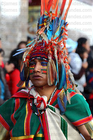 Amazonian warriors during street processions for Inti Raymi festival , Cusco , Peru