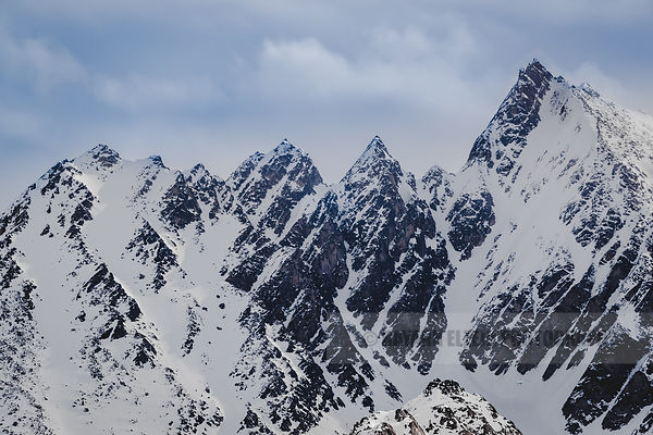 Sharp peaks of the Svalbard mountains