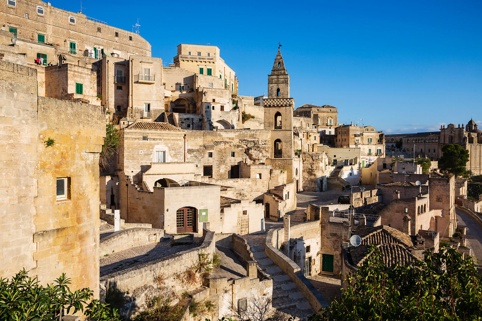 Elevated View of the Streets of Matera