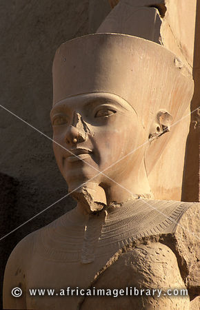 Photos and pictures of: Temple of Karnak, statue of god Amun