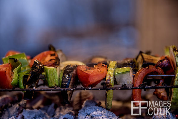 Vegetable Kebabs / Skewers On A BBQ