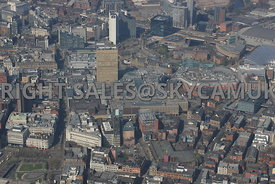 The Northern Quarter Market Street and the Arndale Centre and the  Printworks Shudehill Manchester