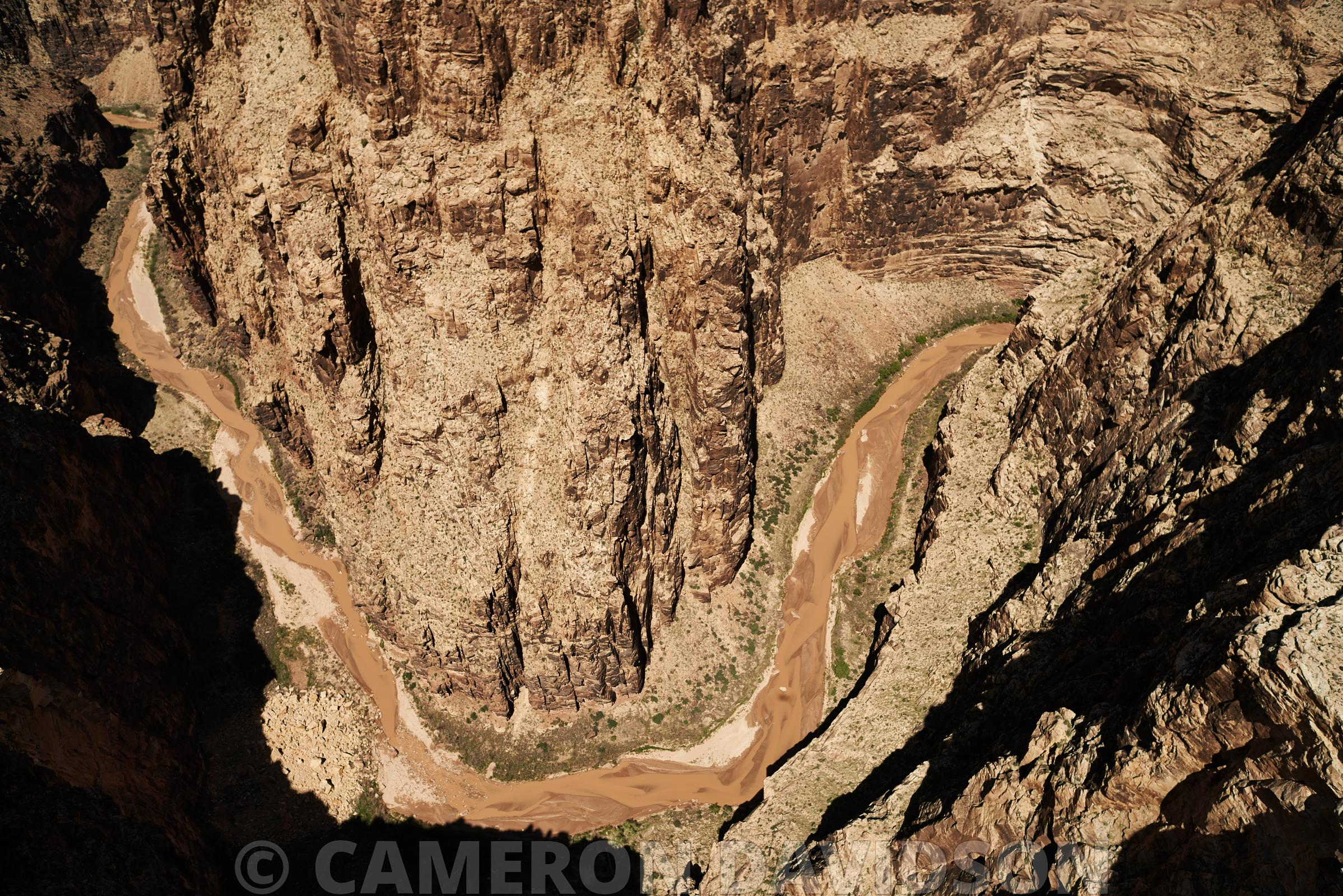 Aerial photograph of the Little Colorado River on the Navajo Reservation in Arizona