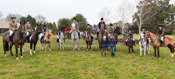 Brooke Priory Past and Present 2012 - The Cottesmore Hunt at Burrough House 18/12