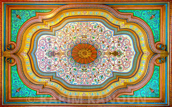 Bardo museum traditional ceiling architecture