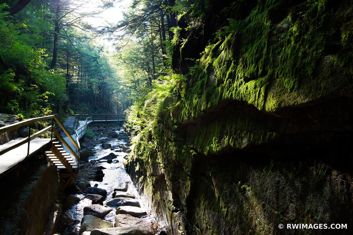 FLUME GORGE FRANCONIA NOTCH STATE PARK NEW HAMPSHIRE