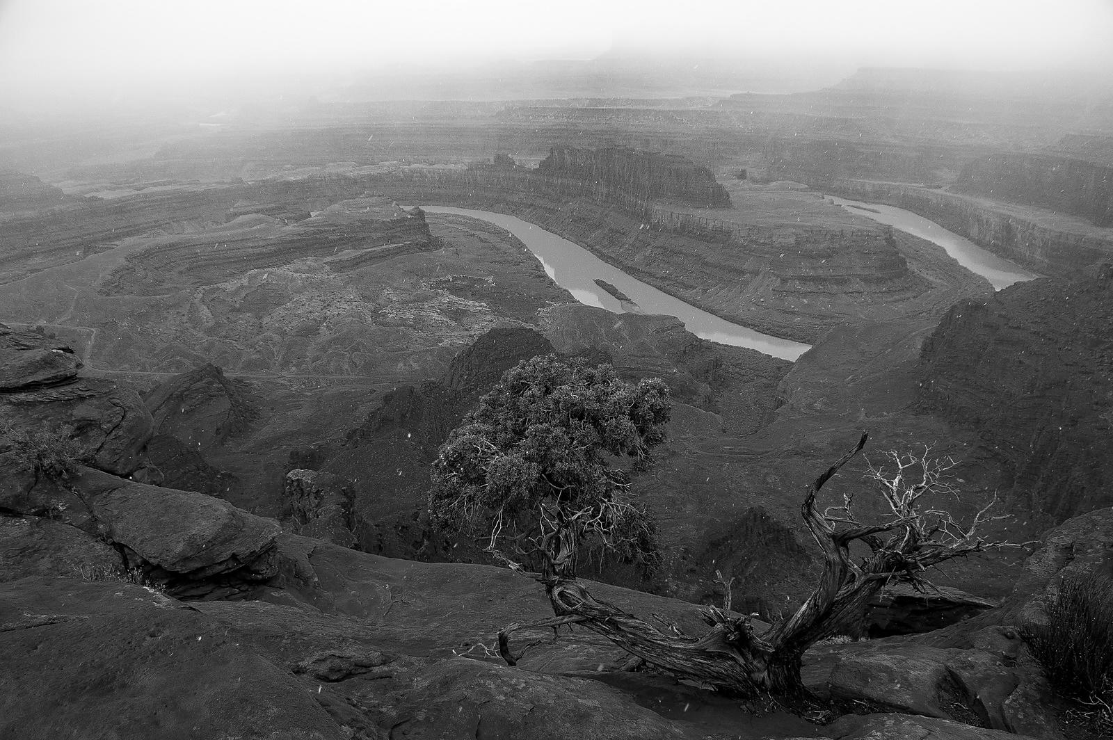 Photo montagne neige : Dead Horse Point