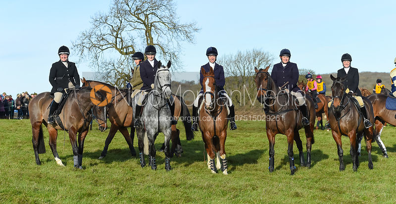 Emily-Rose Perez-Fragero, Caroline Harrison, Helen Lovegrove, Ursula Moore, Charlotte Wright - The Melton Hunt Club Ride