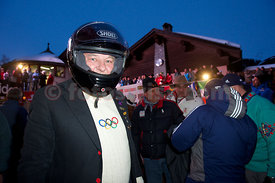 Monaco Bob Race at the Olympia Bob Run in Saint Moritz