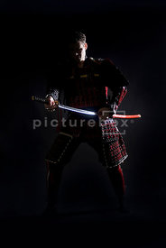 An atmospheric image of a western, Samurai warrior.