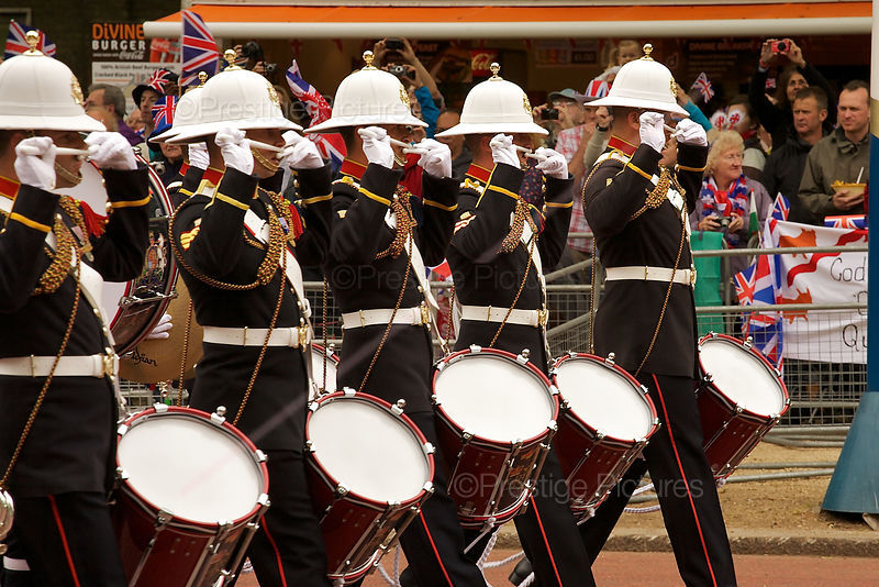 Royal Marines Bandsmen in The Mall