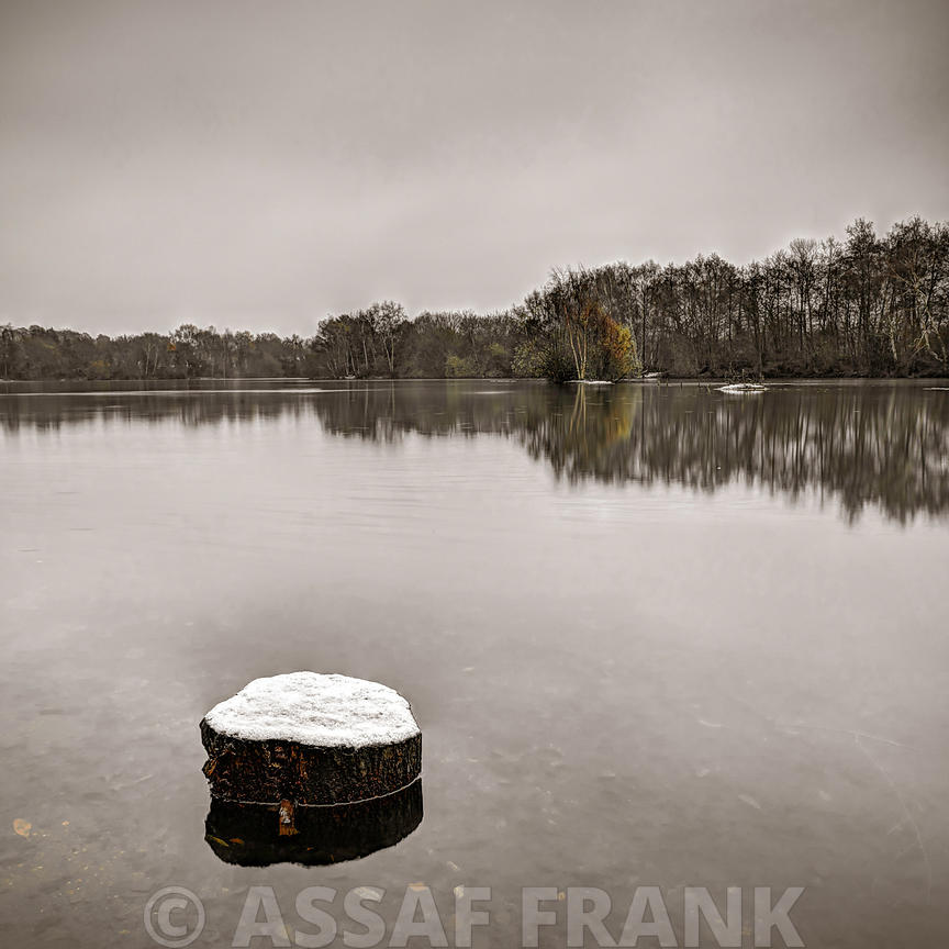 Lake in wintertime