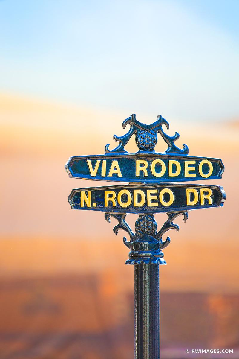 VIA RODEO SIGN BEVERLY HILLS