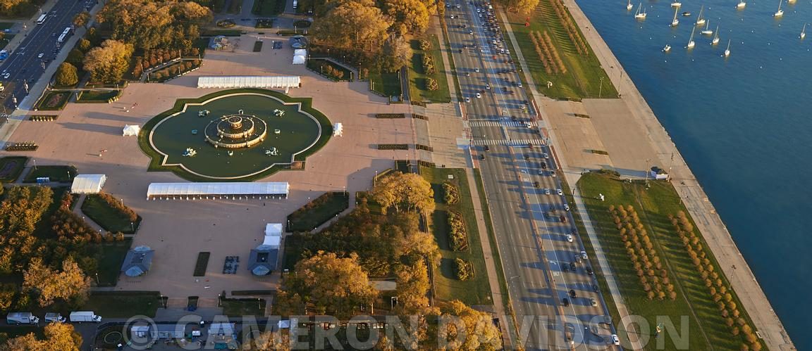 Aerial Chicago Illinois Buckingham Palace
