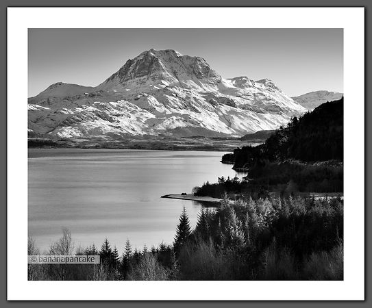 Slioch, Black and White Print BP2299b
