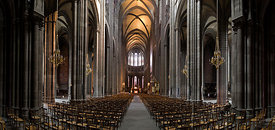 Nave of Clermont Ferrand cathedral