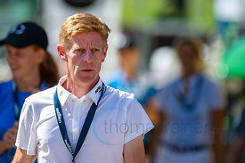 29/07/18, Berlin, Germany, Sport, Equestrian sport Global Jumping Berlin - Chmpionat der DKB von Berlin -   Image shows Marcu...