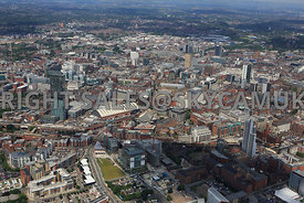 Manchester view of the city from the south looking across the City with the First One developments First Street in the foregr...