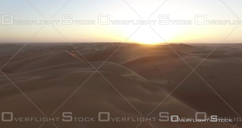 Sunset on the Desert Dunes, United Arab Emirates