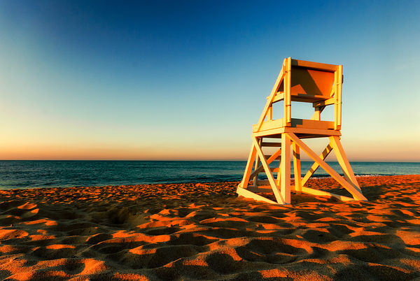 Lifeguard Chair at Sunset, Cape Cod