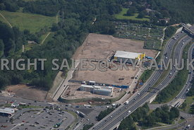 Stockport aerial photograph of the development of old industrial land Bailey Road Portwood and the M60 motorway junction 27 P...
