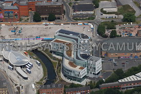 Rochdale aerial photograph of Number One Riverside council office  and library