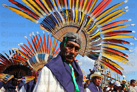 Old machetero dancer during main procession of festival, San Ignacio de Moxos, Bolivia