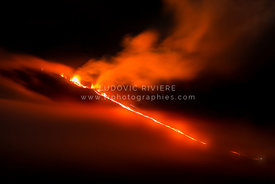 Coulée de lave piton de la fournaise, Eruption 2015