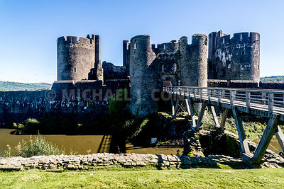 Bridge & Gate, Caerphilly Castle- Caerphilly, Wales