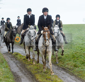 Martin Reason at Knossington Spinney - The Fitzwilliam Hunt visit the Cottesmore at Burrough House