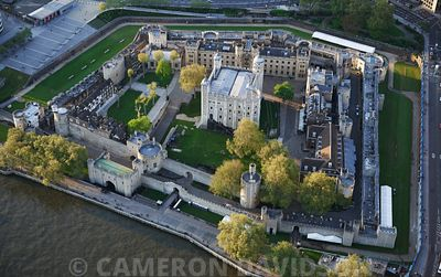 Aerial photograph of Tower of London