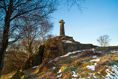 Wellington's monument on Baslow Edge