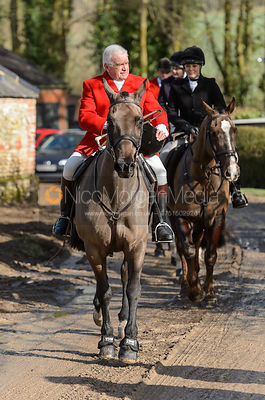 The Wilton Hunt at South Allenford Farm, 4th March 2017.