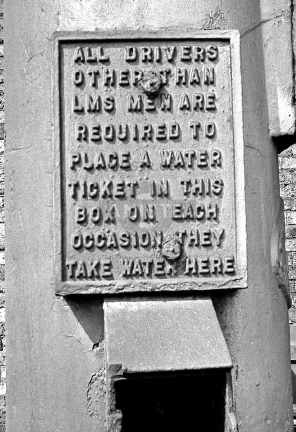 BR cast iron sign Wakefield Kirkgate