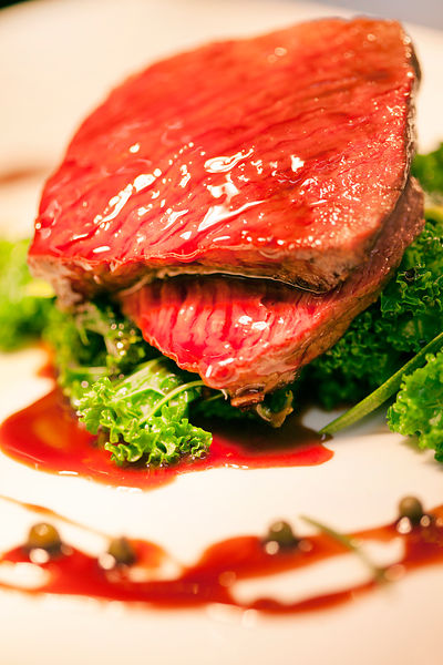 UK - Berkshire - A dish of Muntjac deer at the Potkiln, an award winning pub and restaurant owned by chef and restauranteur, ...