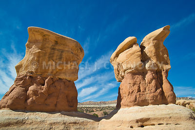 Close Up Of 2 Boulders at Devil's- Garden Grand Staircase Escalante, Utah