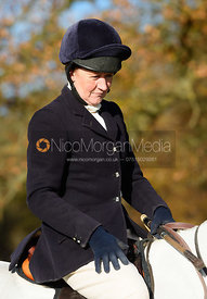 Sophie Oliver at the meet. The Belvoir Hunt at the Kennels 13/11