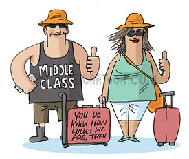 The Lucky Middle Class
