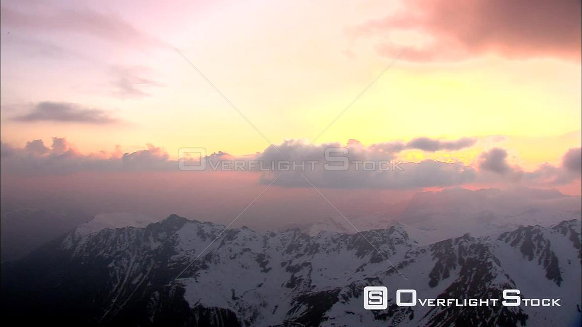 Timelapse sunrise over the French Alps