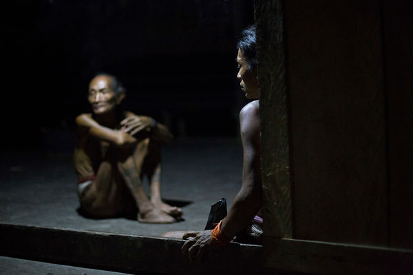 Amantari, 39, and his father Poto, 61, Pulau Siberut, Sumatra, Indonesia